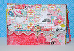 Citrus Squeeze  Summer Purse/ mini book