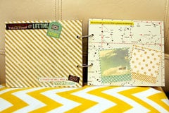 Designer Iris Uy = Mini Book for a Friend using Webster's Pages new Adrienne Looman line, 'Our Travels
