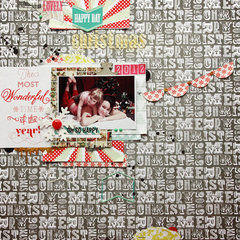 Designer Tanya Batrak LO featuring It's Christmas by Allison Kreft for Webster's Pages