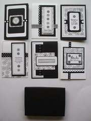 Assorted Black and White Cards and Gift Box