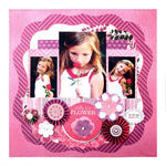 Pretty as a Flower featuring Crazy for You by We R Memory Keepers