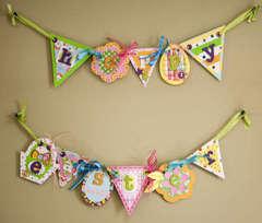 Hoppy Easter Pennant Banner