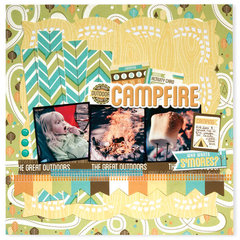 Campfire LO featuring Happy Campers from We R Memory Keepers