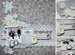 Winter Snow by Jenny Evans featuring Winter Frost from We R Memory Keepers