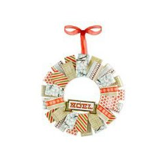Noel Holiday Wreath made with We R Memory Keeper's North Pole Collection