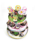 Spring Time Cupcake Tower, Cupcake Wraps & Toppers