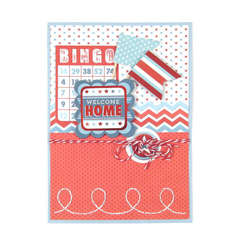 Welcome Home featuring Red White and Blue from We R Memory Keepers