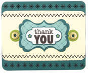 thank you featuring We R Memory Keepers Sew Stamper