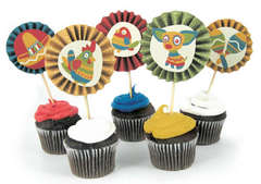 Fiesta Cupcake Toppers
