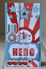 You're My Hero featuring Red White and Blue from We R Memory Keepers