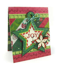 Joy featuring We R Memory Keepers Sew Stamper
