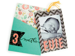 3 Months Sweetness featuring the new Chalkboard Collection from We R Memory Keepers
