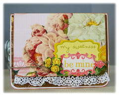 Be Mine - New Pink Paislee Sweetness and Artisan Elements