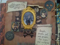 My Steampunk Spells Scrapbook - inside 1