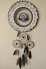 Dreamcatcher with washi tape feathers for BoBunny DT