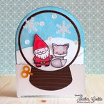 Snowglobe Card with Lawn Fawn
