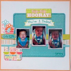 Hip Hip Hooray! You're 1 Today!