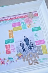 Framed Layout utilizing Washi tape pieces