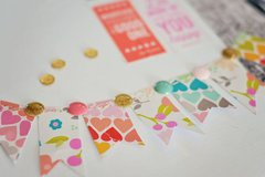 Cute little washi tape banner