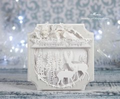 White winter card