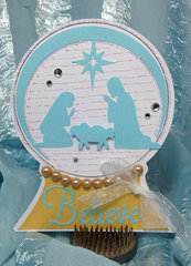 Nativity Snowglobe Card