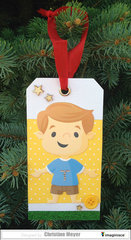 Paper Doll Christmas Ornaments