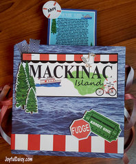Exploding Mackinac Island Scrapbook with POP UPS