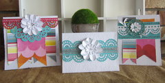 Couture Creations Card Set featuring Bo Bunny Lemonade Stand Papers