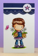Flower Pots Lucy Card by DT Member Delphine