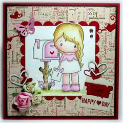 Love Letter Lucy Card by DT Member JayJay