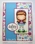 Olivia's Happy Day Card by DT Member Laura
