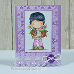 Flower Pots Lucy Card by DT Member Mae