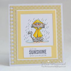 Grouchy Kitty Card by DT Member Mae