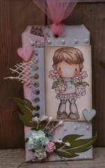 Flower Pots Lucy Card by DT Member Martine