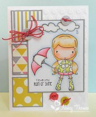 Olivia's Brella Card by DT Member Nancy