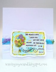 Watercolored Sympathy Card featuring Adornit Art Play