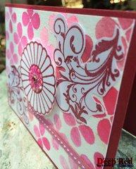 Rosette Flower Card