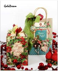 Christmas mini-album and packing