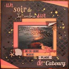 Un soir de septembre sur la plage de Cabourg