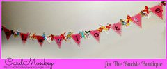 Banner with rhinestone letters