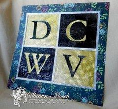 DCWV logo from rhinestones
