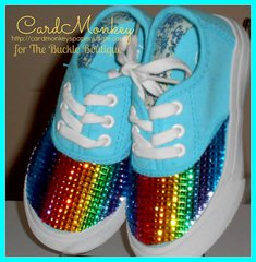 Rhinestone covered shoes