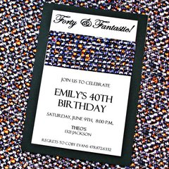 Birthday invitation card - announcement