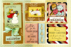A set of fast and easy Christmas cards