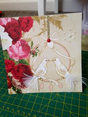 marry christmas love birds card