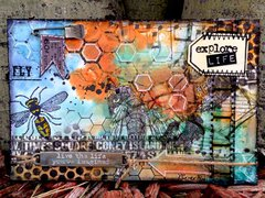 Mixed Media Postcard