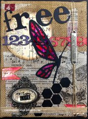 Mixed Media Burlap Canvas