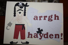 Pirate Birthday Card for Pal