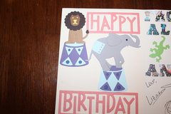 Happy Birthday Circus-inside left side of card