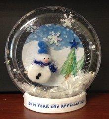 Wintery Snow Globe